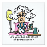 Medication Side Effect Humor Personalized Invitations
