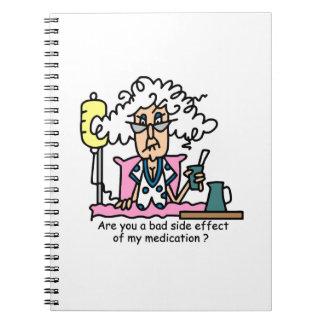 Medication Side Effect Humor Spiral Note Books