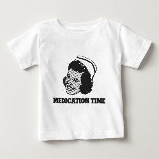 Medication Time Funny Nurse Parody Humor Baby T-Shirt