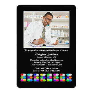 Medications Photo Graduation Invitation