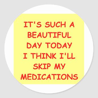 MEDICATIONS.png Pegatina Redonda