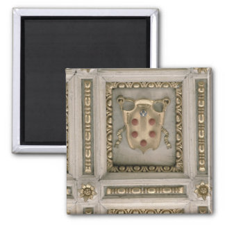 Medici coat of arms, from the soffit of the church 2 inch square magnet