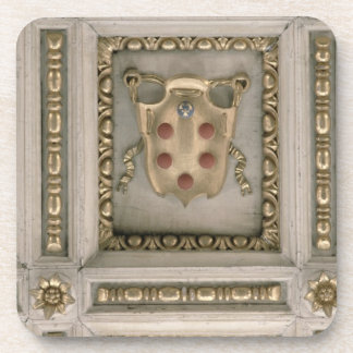 Medici coat of arms, from the soffit of the church beverage coaster