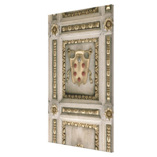 Medici coat of arms, from the soffit of the church gallery wrapped canvas