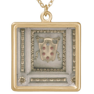 Medici coat of arms, from the soffit of the church square pendant necklace
