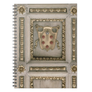 Medici coat of arms, from the soffit of the church notebook