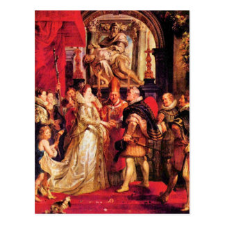 Medici Marriage in Florence by Paul Rubens Postcard