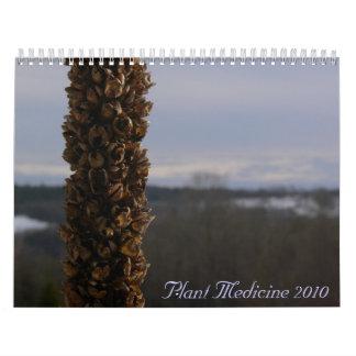 Medicina 2010 de la planta calendarios de pared
