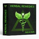 "Medicina alternativa del caduceo verde oscuro 1,5 carpeta 1 1/2"""