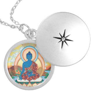 Medicina Buda - amo curativo - locket de plata Medallón