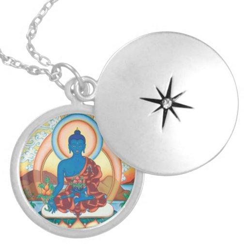Medicina Buda - amo de la cura - locket redondo Medallón
