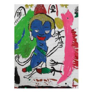Medicina Buda con la postal del dragón
