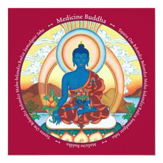"""Medicina Buda de la TARJETA - con el sobre Invitación 5.25"""" X 5.25"""""""