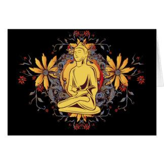 Medicina Buda en la meditación Felicitación