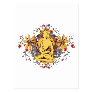 Medicina Buda en la meditación Tarjetas Postales