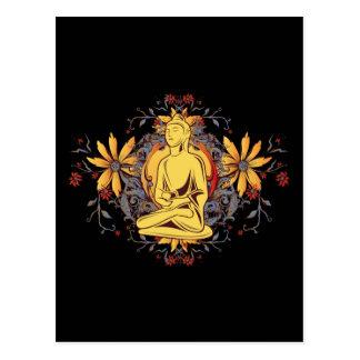 Medicina Buda en la meditación Tarjeta Postal