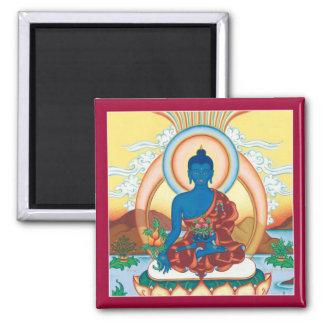 Medicina Buda - imán cuadrado del IMÁN