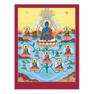 Medicina Buddhas de la POSTAL 8