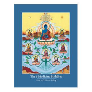 Medicina Buddhas de la TARJETA 8 Postal