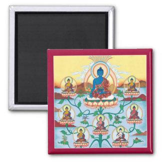 Medicina Buddhas - imán cuadrado del IMÁN 8