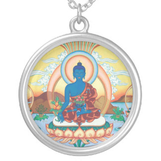 Medicina DE PLATA Buda del COLLAR y del COLGANTE