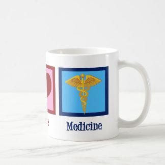 Medicina del amor de la paz taza