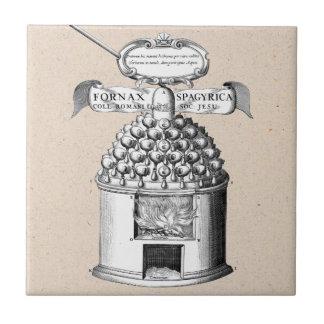 Medicina herbaria espagiria azulejo cuadrado pequeño