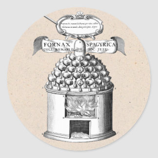 Medicina herbaria espagiria pegatina redonda