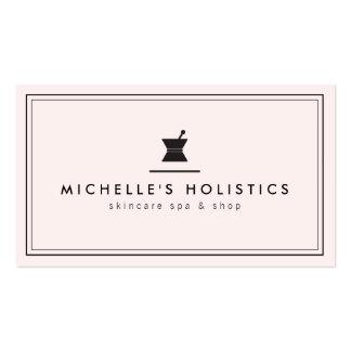 Medicina holística del boticario clásico pálida - tarjetas de visita