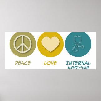 Medicina interna del amor de la paz posters