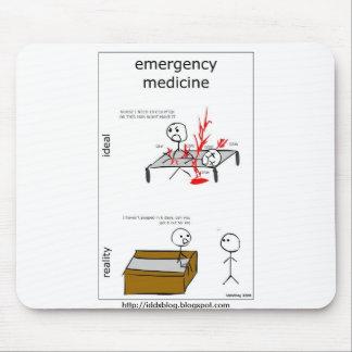 Medicina Mousepad cómico de la emergencia