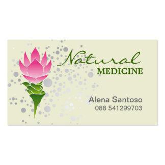 Medicina natural plantillas de tarjetas de visita
