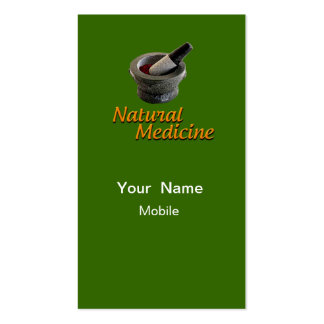 Medicina natural plantillas de tarjeta de negocio