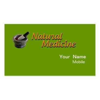 Medicina natural tarjetas de visita