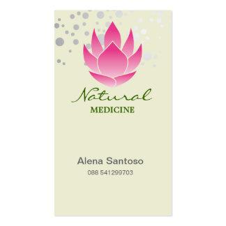 Medicina natural tarjetas de negocios