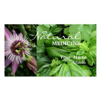 Medicina natural plantilla de tarjeta personal