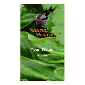 Medicina natural tarjeta de visita