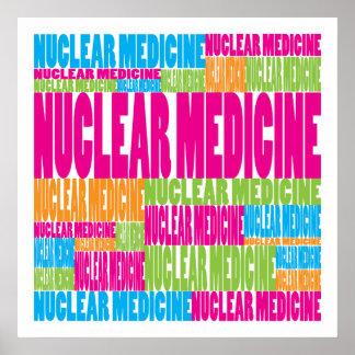 Medicina nuclear colorida póster