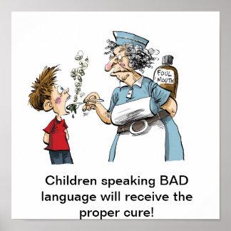 ¡Medicina para la MALA lengua! Póster