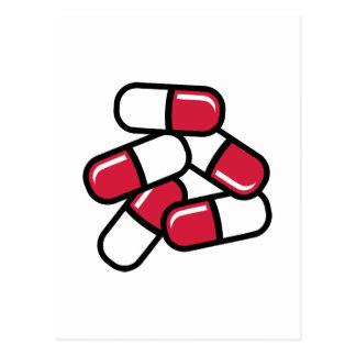 Medicina roja de las píldoras postales