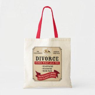 Medicinal Divorce Label Tote Bag