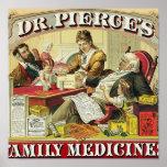 Medicinas de familia del Dr. Peirce Poster