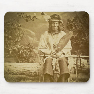 Medicine Bear Sioux Indian Chief Vintage Mouse Pad