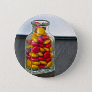 Medicine Bottle of Candy Pinback Button