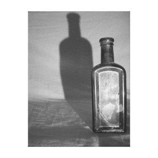 Medicine Bottle Shadow Canvas Print