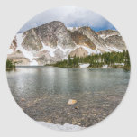 Medicine Bow Lake View Classic Round Sticker