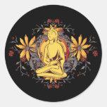 Medicine Buddha in Meditation Round Stickers