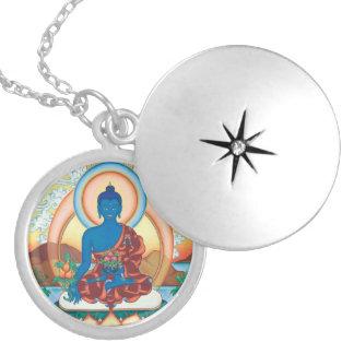 Medicine Buddha - Master of Healing - round locket
