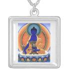 Medicine Buddha Silver Plated Necklace