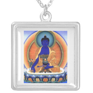 Medicine Buddha Silver Plated Necklace